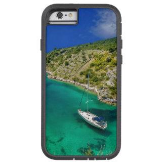 Coque Tough Xtreme iPhone 6 Voilier dans l'océan de vert vert