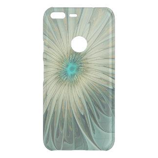 Coque Uncommon Google Pixel XL Blé abstrait moderne de turquoise de fleur