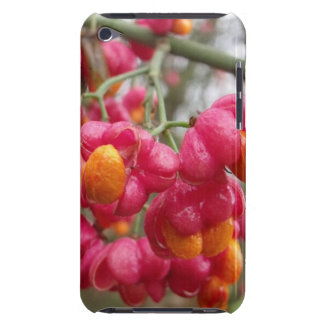 Coques Barely There iPod Belle fleur orange et rose