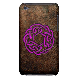 Coques Barely There iPod Noeud celtique rose sur le cuir