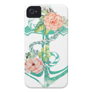 Coques Case-Mate iPhone 4 Ancre et roses