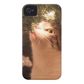 Coques Case-Mate iPhone 4 Chats et lumières - chat de Noël - arbre de Noël