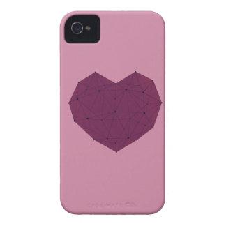 Coques Case-Mate iPhone 4 Coeur géométrique