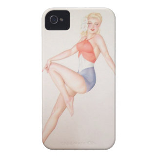 Coques Case-Mate iPhone 4 Coloration originale 5 de fille de pin-up vintage
