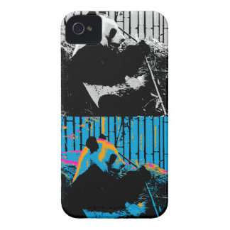 Coques Case-Mate iPhone 4 Conception d'art moderne de Multi-panneau d'ours