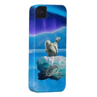 Coques Case-Mate iPhone 4 Défenseur mignon de faune d'art d'imaginaire de
