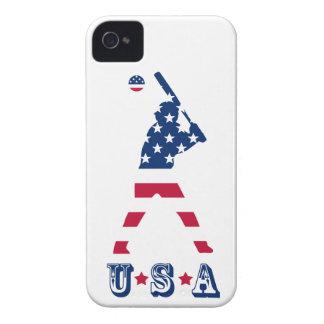 Coques Case-Mate iPhone 4 Drapeau d'Américain de base-ball de l'Amérique