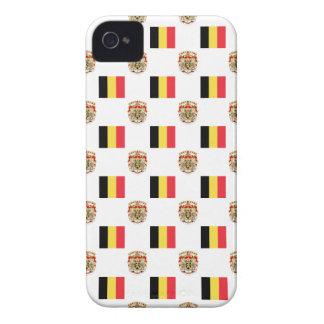 Coques Case-Mate iPhone 4 Drapeau et crête de la Belgique