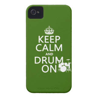 Coques Case-Mate iPhone 4 Gardez le calme et battez du tambour sur (toute