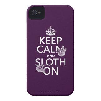 Coques Case-Mate iPhone 4 Gardez le calme et la paresse dessus