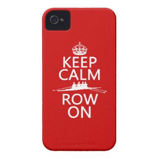 Coques Case-Mate iPhone 4 Gardez le calme et la rangée sur (choisissez