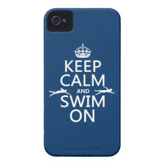 Coques Case-Mate iPhone 4 Gardez le calme et nagez sur (dans toute couleur)