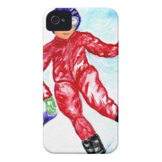 Coques Case-Mate iPhone 4 Illustration de sport de skieur