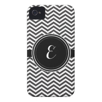 Coques Case-Mate iPhone 4 Motif personnalisé noir et blanc de Cheveron