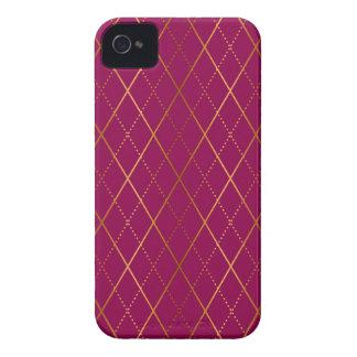 Coques Case-Mate iPhone 4 Prune à motifs de losanges