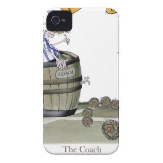 Coques Case-Mate iPhone 4 rayures blanches bleues d'entraîneur du football