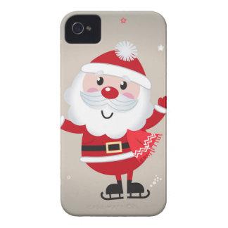 Coques Case-Mate iPhone 4 Rouge mignon de père Noël d'enfants