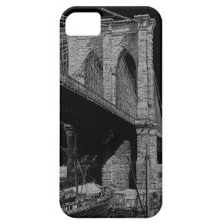 Coques Case-Mate iPhone 5 Bord de mer 1896 de pont de Brooklyn
