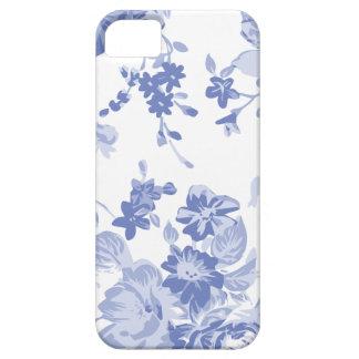 Coques Case-Mate iPhone 5 Caisse florale bleue de téléphone de motif