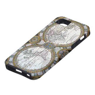 Coques Case-Mate iPhone 5 Carte antique du monde par Claude Auguste Berey,