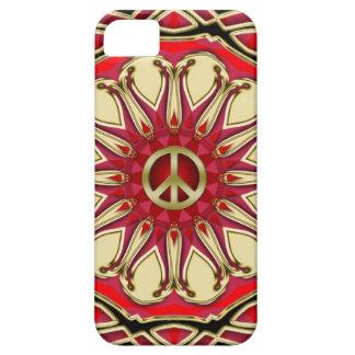 Coques Case-Mate iPhone 5 Cas de l'iPhone 5 de Sun de rose de signe de paix