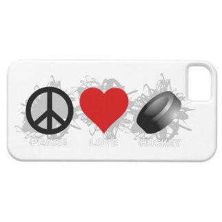 Coques Case-Mate iPhone 5 Cas de l'iPhone 5 d'emblème d'hockey d'amour de