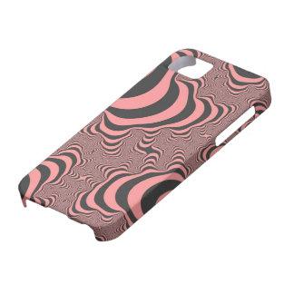 Coques Case-Mate iPhone 5 Le zèbre rose fané barre la caisse de l'iPhone 5
