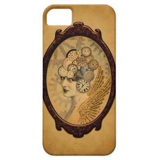 Coques Case-Mate iPhone 5 Madame de Steampunk, ailes et visages d'horloge