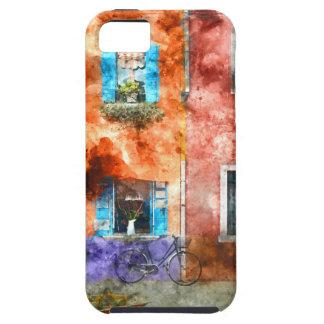 Coques Case-Mate iPhone 5 Maisons colorées en île de Burano, Venise