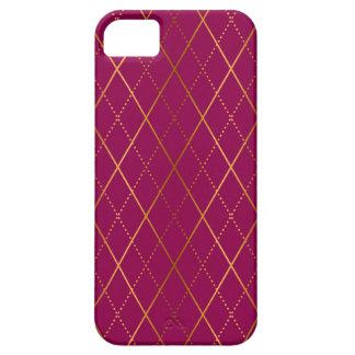 Coques Case-Mate iPhone 5 Prune à motifs de losanges