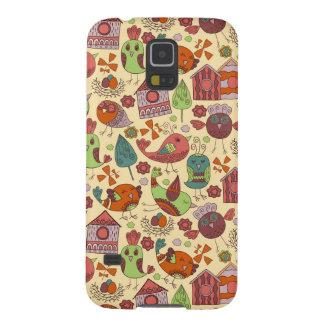 Coques Galaxy S5 Conception florale tirée par la main colorée