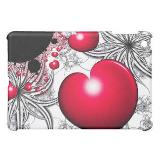 Coques iPad Mini Cas d'iPad rouge de coeur de Vinehearts