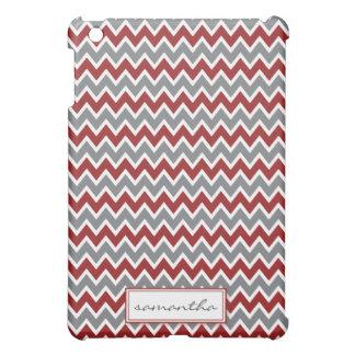 Coques iPad Mini Chevron Pern (rouge foncé)