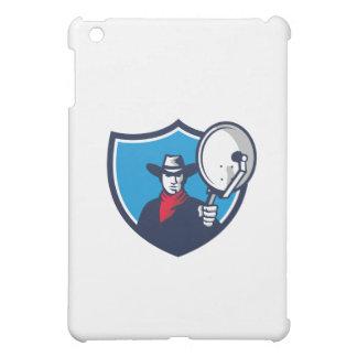 Coques iPad Mini Cowboy visant la crête d'antenne parabolique rétro