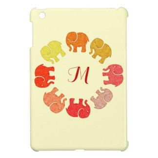 Coques iPad Mini Éléphants mignons colorés gais adorables
