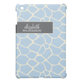 Coques iPad Mini Girafe Pern de bleus layette