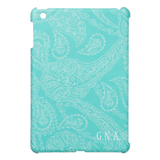 Coques iPad Mini Init vintage de monogramme de Paisley de henné de