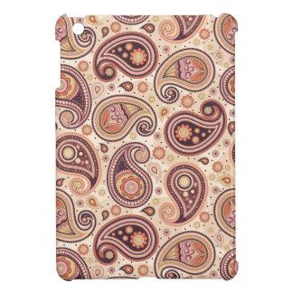 Coques iPad Mini Jaune et brun de motif de Paisley