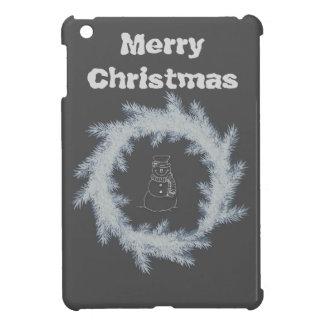 Coques iPad Mini Joyeux Noël de bonhomme de neige gai adorable