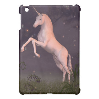 Coques iPad Mini Licorne en clairière éclairée par la lune de forêt