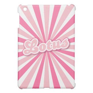 Coques iPad Mini Lotus rose