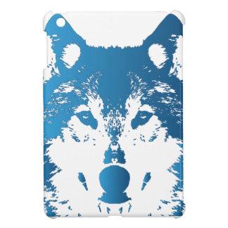 Coques iPad Mini Loup de bleu glacier d'illustration