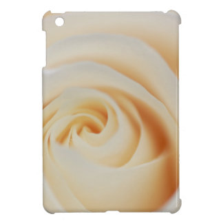 Coques iPad Mini Macro de rose blanc