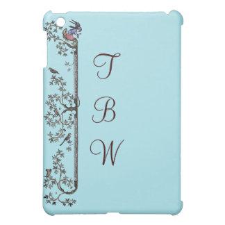 Coques iPad Mini Oiseaux et feuille médiévaux