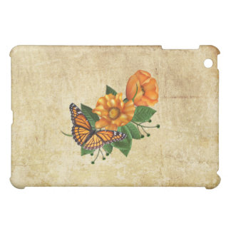 Coques iPad Mini Papillon orange de fleur