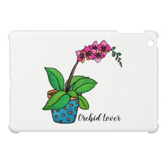 Coques iPad Mini Usine d'orchidée d'aquarelle dans le beau pot