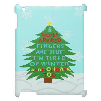Coques iPad Poème fumiste drôle de Noël de Bah