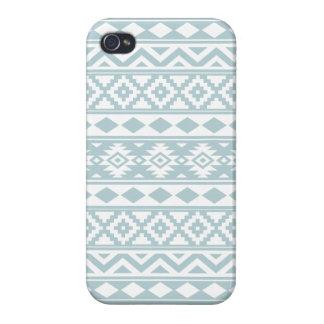 Coques iPhone 4/4S Bleu aztèque et blanc d'oeufs de canard de Ptn