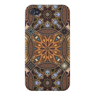 Coques iPhone 4/4S Patchwork vintage avec les éléments floraux de