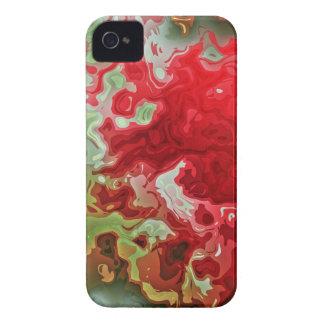 Coques iPhone 4 Case-Mate Abrégé sur rouge et vert